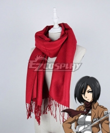 Shingeki no Kyojin Attack on Titan Mikasa Ackerman Mikasa Ackerman Scarf Cosplay Accessory Prop