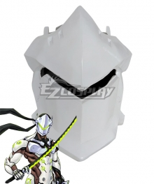 Overwatch OW Genji White Helmet Cosplay Accessory Prop