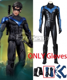 DC Batman Arkham City Nightwing Gloves Cosplay Accessory Prop