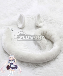 Nekopara Vanilla Tail and Ears Cosplay Accessory Prop
