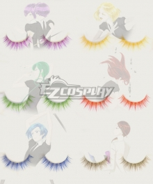 Land of the Lustrous Houseki no Kuni Antarcticite Amethyst Padparadscha Lapis Lazuli Cinnabar Rutile Jade False Eyelashes Cosplay Accessory Prop