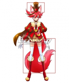 Kirakira PreCure A La Mode Cure Kenjou Akira Cure Chocolat Ears Tail Cosplay Accessory Prop
