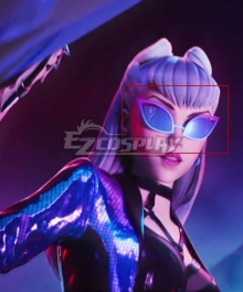 League Of Legends LOL 2020 K/DA KDA All Out Evelynn Glasses Cosplay Accessory Prop