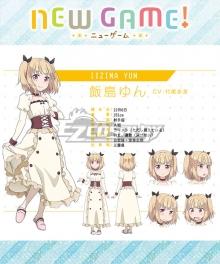 New Game! Yun Iijima Cosplay Costume