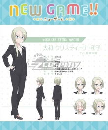 New Game!! Wako Christina Yamato Cosplay Costume