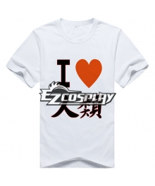 No Game No Life Anime Sora T-shirt Short White Sleeve Cosplay Costume