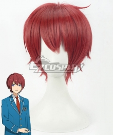 Ensemble Stars Knights Suou Tsukasa Red Cosplay Wig