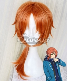 Ensemble Stars Knights Tsukinaga Leo Orange Cosplay Wig