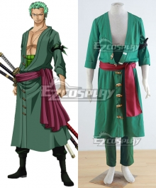 One Piece Roronoa Zoro Green Cosplay Costume