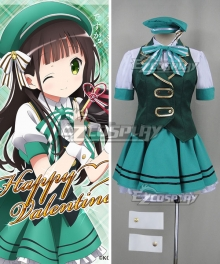 Gochuumon wa Usagi Desu ka? Is the Order a Rabbit? Chiya Ujimatsu Happy Valentine Cosplay Costume