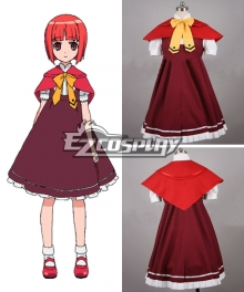 Okami-san to Shichinin no Nakamatachi Ringo Akai Cosplay Costume