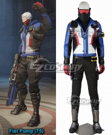 Overwatch OW Soldier 76 John Jack Morrison Cosplay Costume - Including Boots