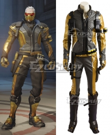 Overwatch OW Soldier 76 John Jack Morrison Golden Cosplay Costume