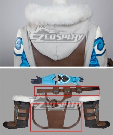 Overwatch OW Dr. Mei Ling Zhou Cosplay Costume Only Vest Belt