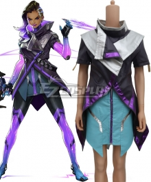 Overwatch OW Sombra ░░░░░░ Cosplay Costume (Only Sleeveless Jacket)
