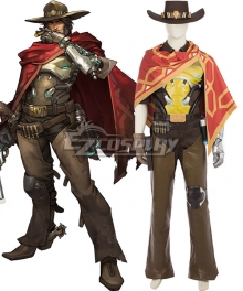 Overwatch OW Jesse McCree Cosplay Costume - A Edition