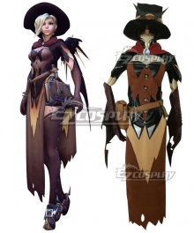Overwatch OW Mercy Angela Ziegler All Saints' Day Cosplay Costume