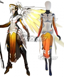 Overwatch OW Mercy Angela Ziegler Cosplay Costume