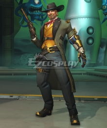 Overwatch OW Jesse McCree Gambler Cosplay Costume