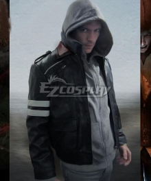 Prototype Alex Mercer Leather Jacket Cosplay Costume