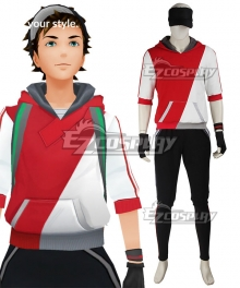 Pokémon GO Pokemon Pocket Monster Trainer Male Red Cosplay Costume - A Edition