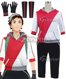 Pokémon GO Pokemon Pocket Monster Trainer Male Red Cosplay Costume - B Edition