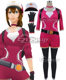 Pokémon GO Pokemon Pocket Monster Trainer Female Red Cosplay Costume - Including Bag