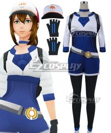 Pokémon GO Pokemon Pocket Monster Trainer Female Blue Cosplay Costume - Including Bag