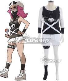 Pokemon Sun and Moon Team Skull Grunts Female Cosplay Costume