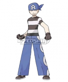 Pokemon Team Aqua Grunt Male Cosplay Costume - B Edition