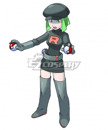 Pokemon Team Rocket Grunt Female Cosplay Costume - B Edition