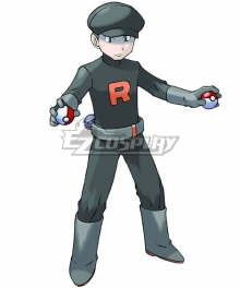 Pokemon Team Rocket Grunt Male Cosplay Costume - B Edition