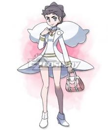 Pokémon Champion Diantha Cosplay Costume - Only Jumpsuit, Coat