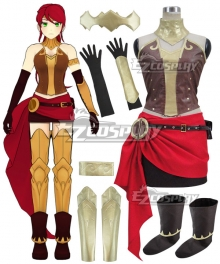 RWBY Beacon Academy Team JNPR Pyrrha Nikos Cosplay Costume - Including Boots