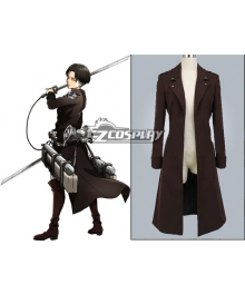 Attack on Titan Shingeki no Kyojin Survey Corp Eren & Levi & Mikasa Wings of Counterattack Online Cosplay Costume Coat - no badge