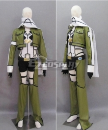 Sword Art Online II SAO Gun Gale Online GGO Asada Shino Sinon Shinon Hecate Green Cosplay Costume-Second Version