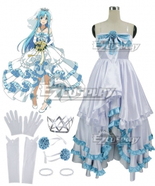 Sword Art Online Code Register ALfheim Online SAO ALO Yuuki Asuna Yuki Asuna Bride Wedding Dress Cosplay Costume