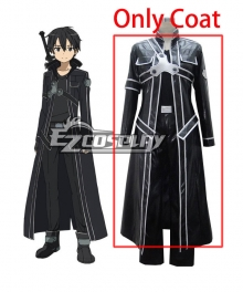 Sword Art Online Kirito Leather Cosplay Costume - Only Coat