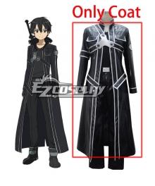 Sword Art Online Kirito Leather Cosplay Costume - Only Coat