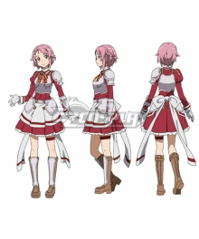 Sword Art Online Code Register Lisbeth Rika Shinozak Cosplay Costume