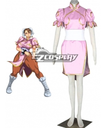 Street Fighter Chun-Li Pink Cosplay Costume