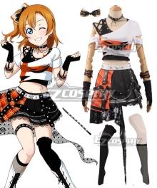Love Live! Lovelive! Transformed Rock Ver. Honoka Kosaka Cosplay Costume