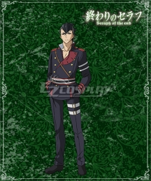 Seraph of the End Vampire Reign Owari no Serafu Seishiro Hiragi Cosplay Costume