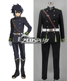 Seraph of the End Owari no Serafu Imperial Demon Army Hyakuya Black Uniform Cosplay Costume