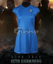 Star Trek Into Darkness Carol Marcus Blue Dress Cosplay Costume
