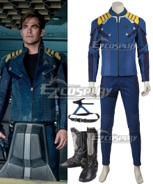 Star Trek Beyond James Tiberius Kirk Jim Commander Captain Cosplay Costume - Including Boots