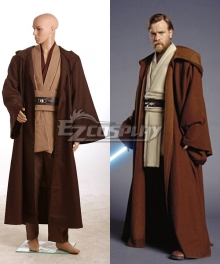 Star Wars Obi Wan Kenobi Jedi Brown Version Cosplay Costume