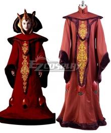 Star Wars The Phantom Menace Padme Amidala Queen Dress Halloween Cosplay Costume