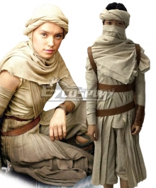 Star Wars: The Force Awakens Rey Cosplay Costume