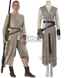 Star Wars The Force Awakens Rey Cosplay Costume - New Edition